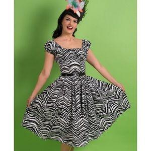 Jodi Dress in Classic Zebra Print